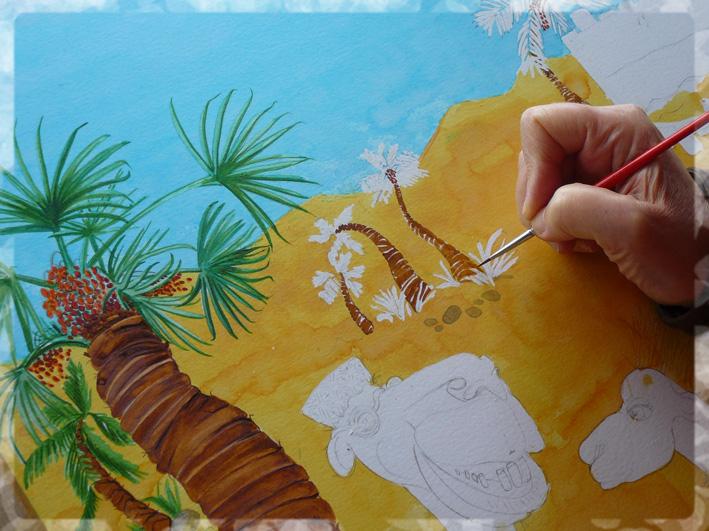 grain de sable- les aventures de saber le dromadaire-sabine hautefeuille-éditions cipango-illustration jeunesse