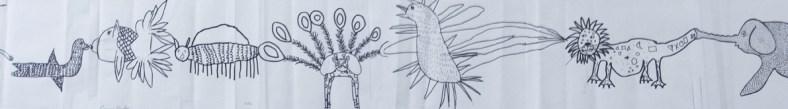 atelier cadavre exquis animaux fantastiques