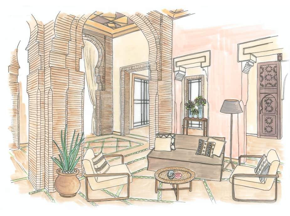 Croquis Et Illustrations D Interieur Sabine Projects