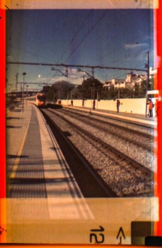 en la estación