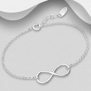 Bratara din Argint Infinity Love 16 - 17 cm