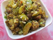 gherkins and cocont recipe/ dondakaya kobbari koora