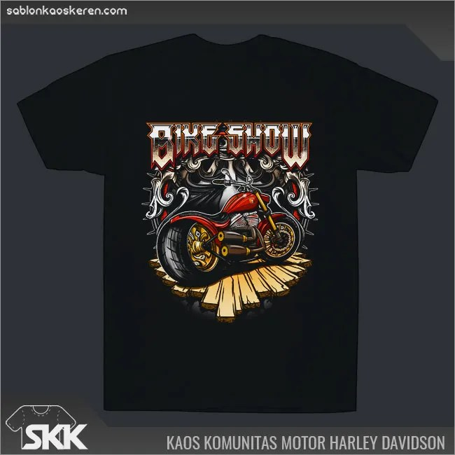 Kaos Komunitas Motor Besar Harley