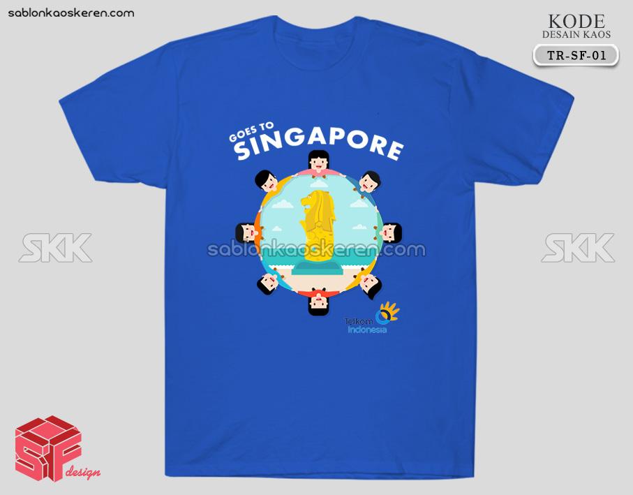 Desain Kaos Traveling Singapura