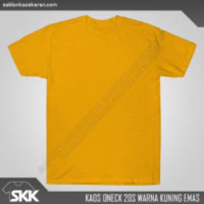 Kaos Polos Combed 20s Kuning Emas