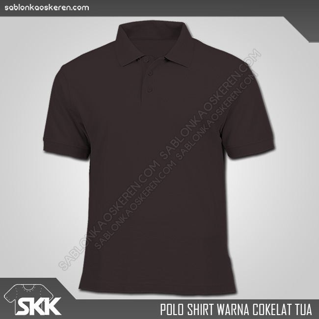 Polo Shirt Warna Cokelat Tua