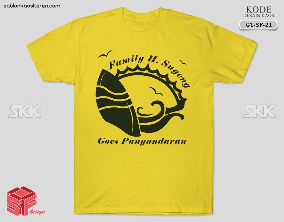 Desain Kaos Gathering Pangandaran