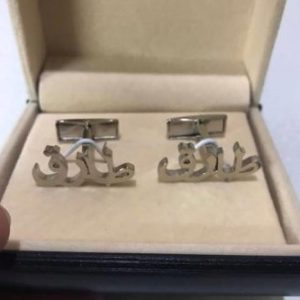 Customized Silver Plated Cufflinks