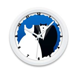 custom printed and designed Wedding Gift Wall Clock Customized