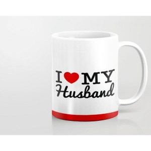 customized I Love My Husband Mug custom printed