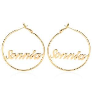 customized Name Earrings - custom designed 1