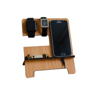 customized Wooden Mobile Watch Docking Station