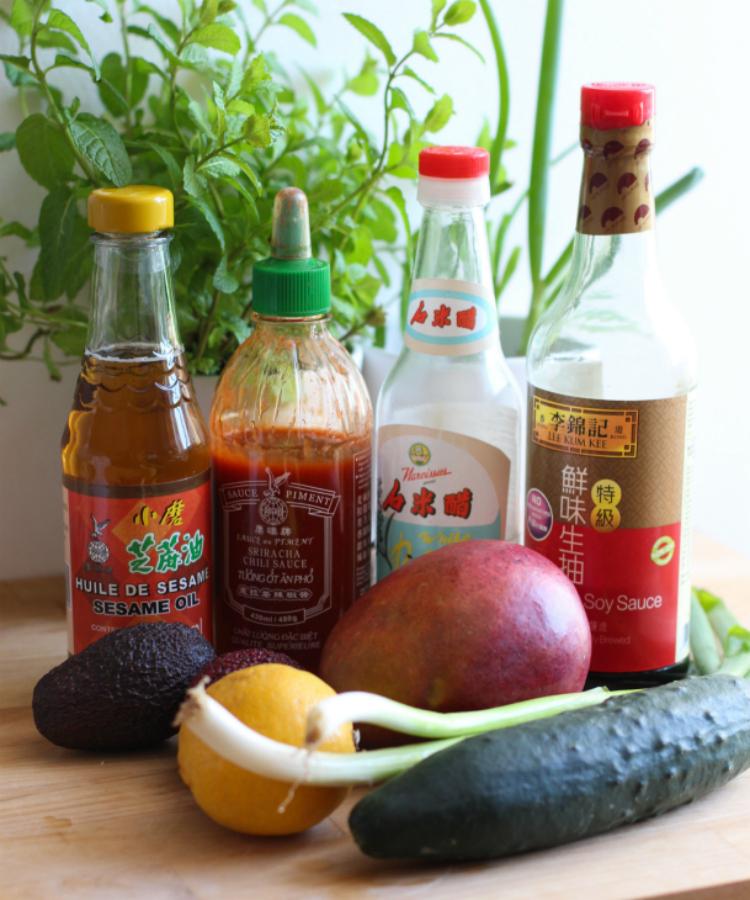 ingredientes poke plato hawaii