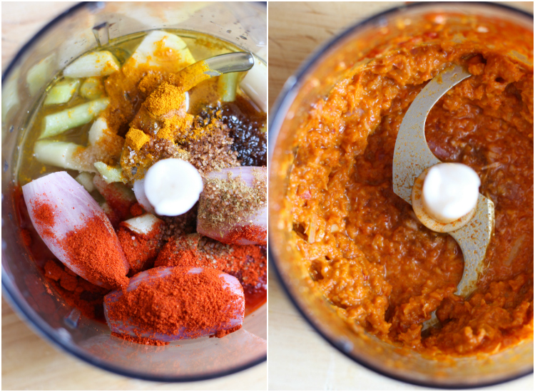 Ingredientes Pollo Satay con salsa de maní, plato asiático