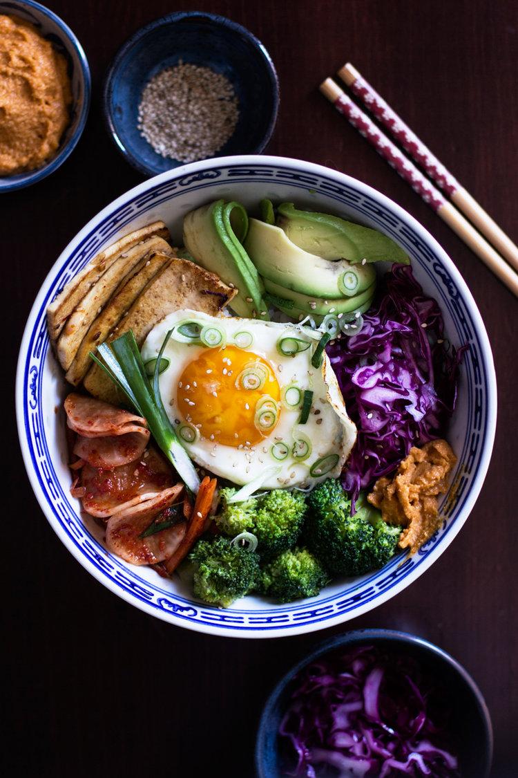 baobimbap - veggie bowl coreano