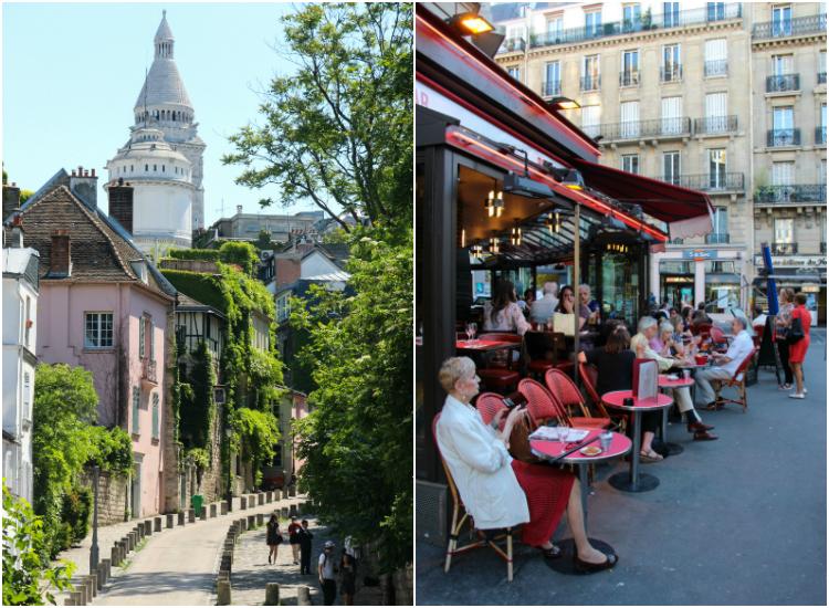 París, Francia, calles y restaurantes