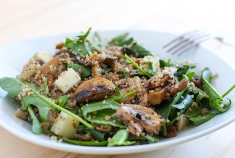 receta quinoa con espinacas