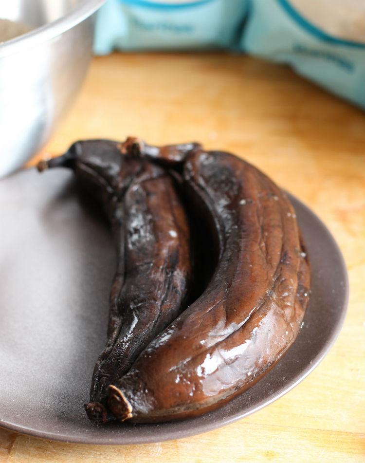 platanos o bananos maduros negros -receta dulce y fácil