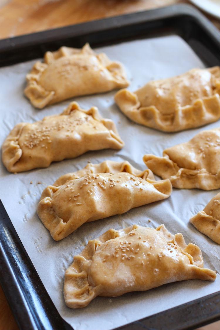 Empanadas de camarón y queso - receta con fotos paso a paso