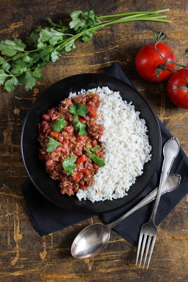 chili con carne receta