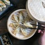 Gyosas (jiaozi o dumplings) de cerdo y vegetales