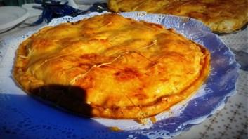 Empanada de pavo con masa de empanada