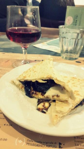 Piadina de higos y queso - Ca'Pelletti