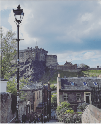 Vistas del castillo desde The Vennel