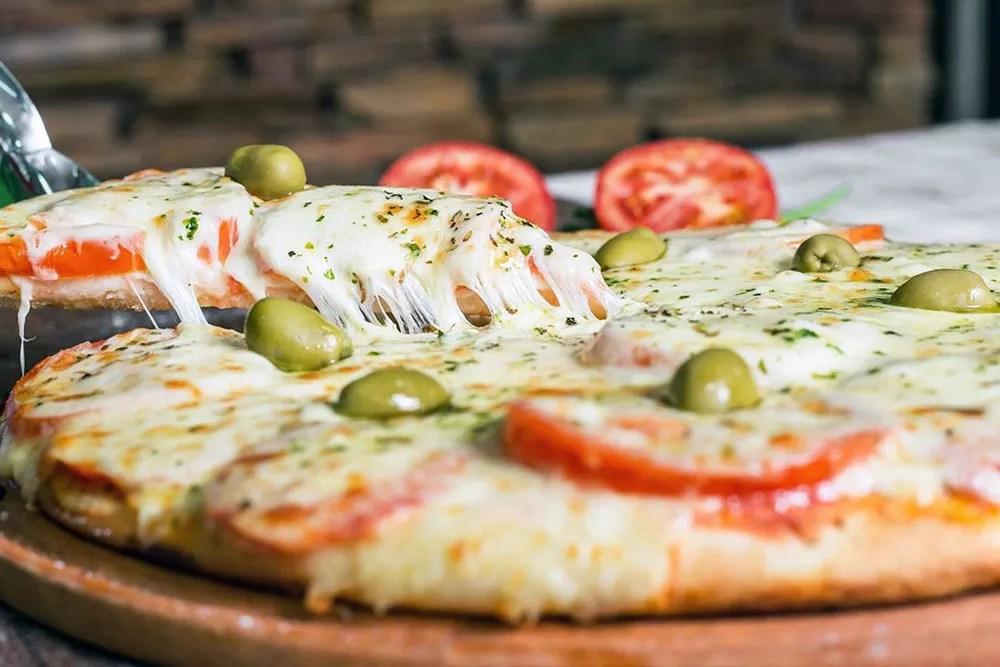 Sabores Mendoza   Pizza de Muzzarella y Jamón - Delivery Pedidos Online Mendoza
