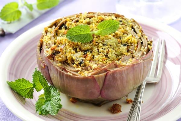 receta alcachofas rellenas