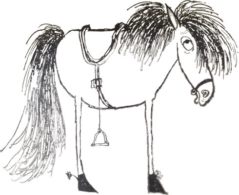 one side of the horse - Ronald Searle