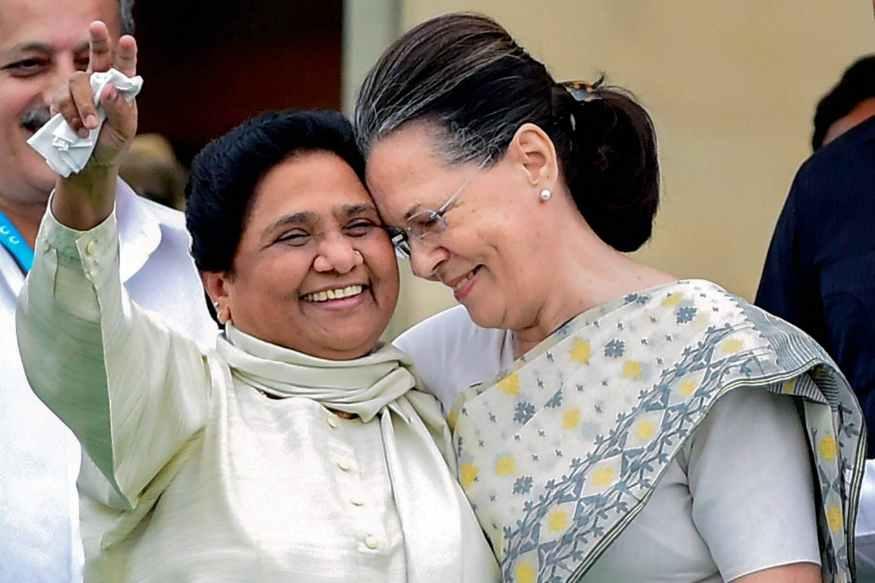 mayawati and soni gandhi