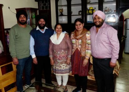 Manmeet (r) and family