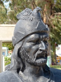 Attila the Hun keeps an eye on Fethiye