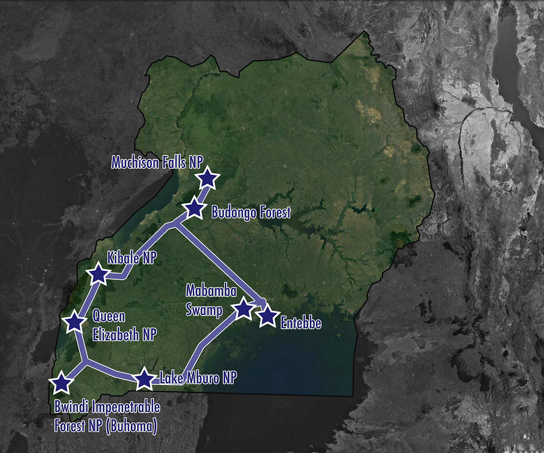 Uganda: The Pearl of Africa - Map