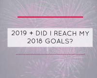 2019 + Did I reach my 2018 goals?