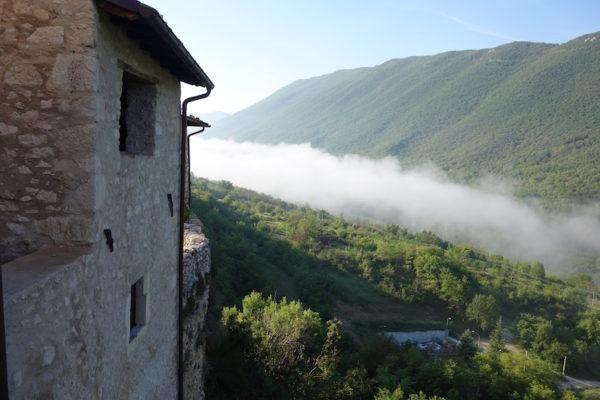 Aussicht Fontecchio Unterkunft