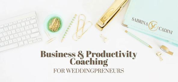 sabrina cadini business productivity strategist coach time management design branding sales marketing weddingpreneurs