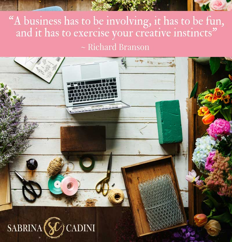 sabrina cadini wedding business coach discussing creativity in business for entrepreneurs as part of the #mondaymovesme series