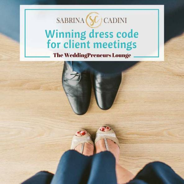 sabrina cadini sharing guidelines on dress code for client meetings wedding business coach