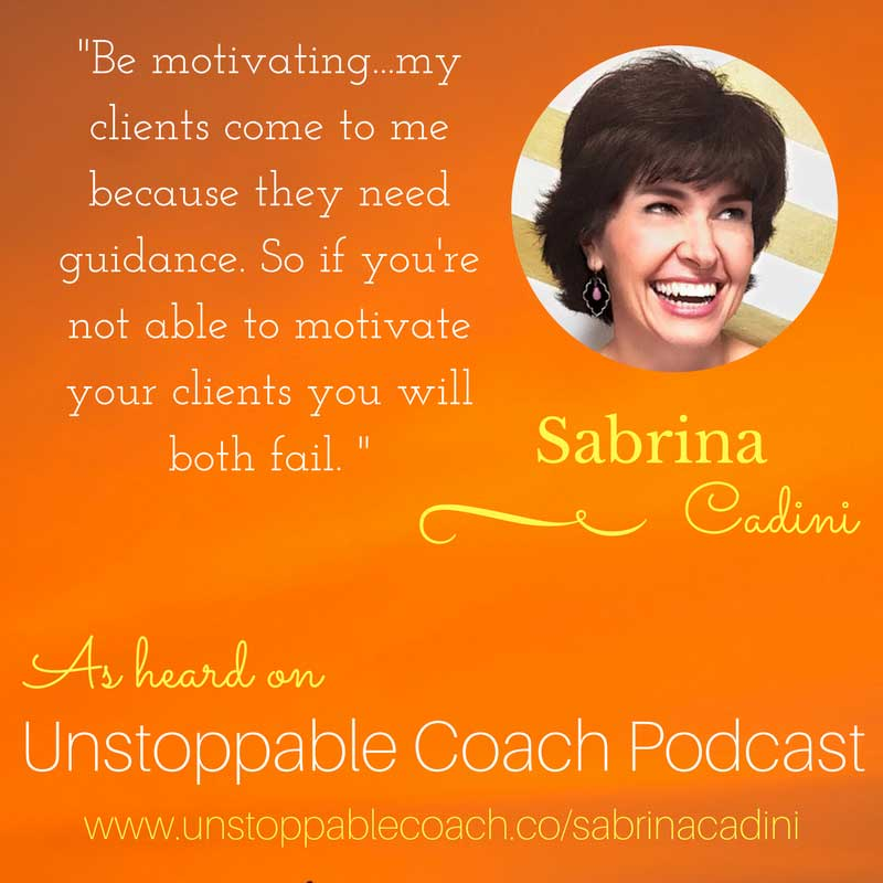 sabrina cadini guest of unstoppable coach podcast about weddingpreneurs competition life work balance self care and live video