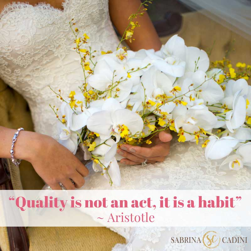 sabrina cadini monday moves me quality is not an act it is a habit wedding business coach weddingpreneurs
