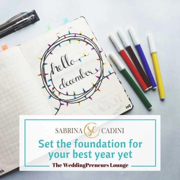 sabrina cadini set the foundation for your best year yet 2017 2018 entrepreneurs creatives business productivity coach goal setting