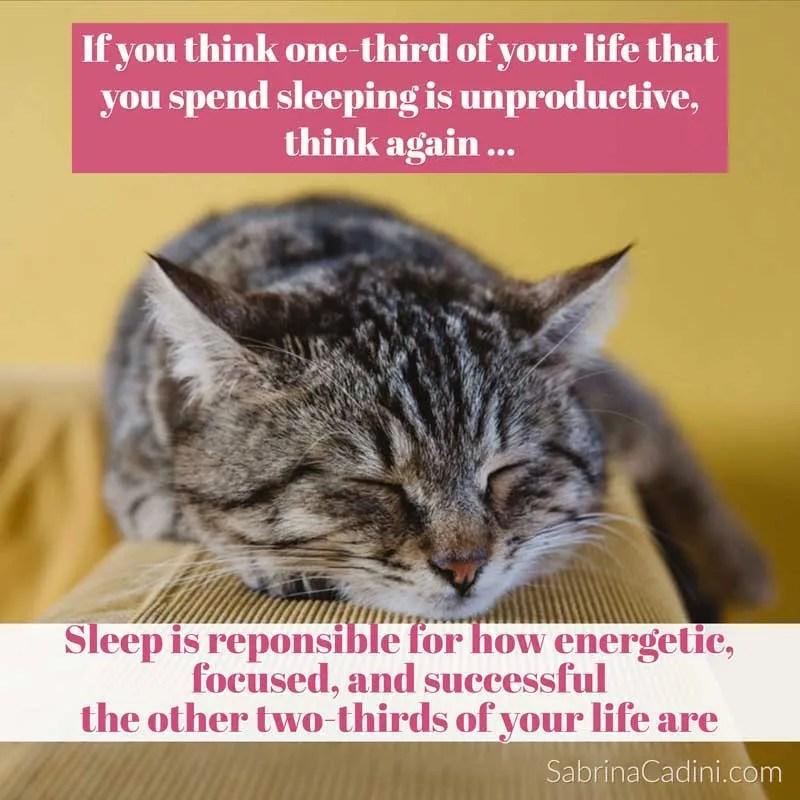 sabrina cadini monday moves me life-work balance sleep responsible energy focus productive happiness positivity live better