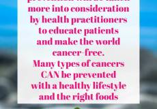 sabrina cadini world cancer day life-work balance healthy lifestyle eat better prevention practitioners