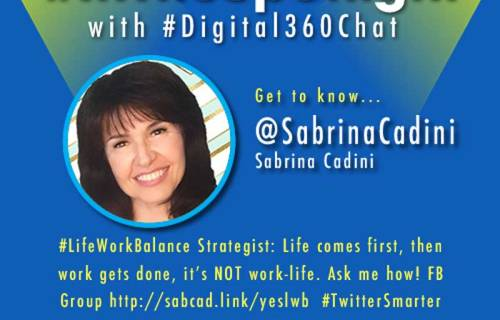 sabrina cadini twitter chat in the spotlight digital 360 chat life-work balance mindset habits wellbeing