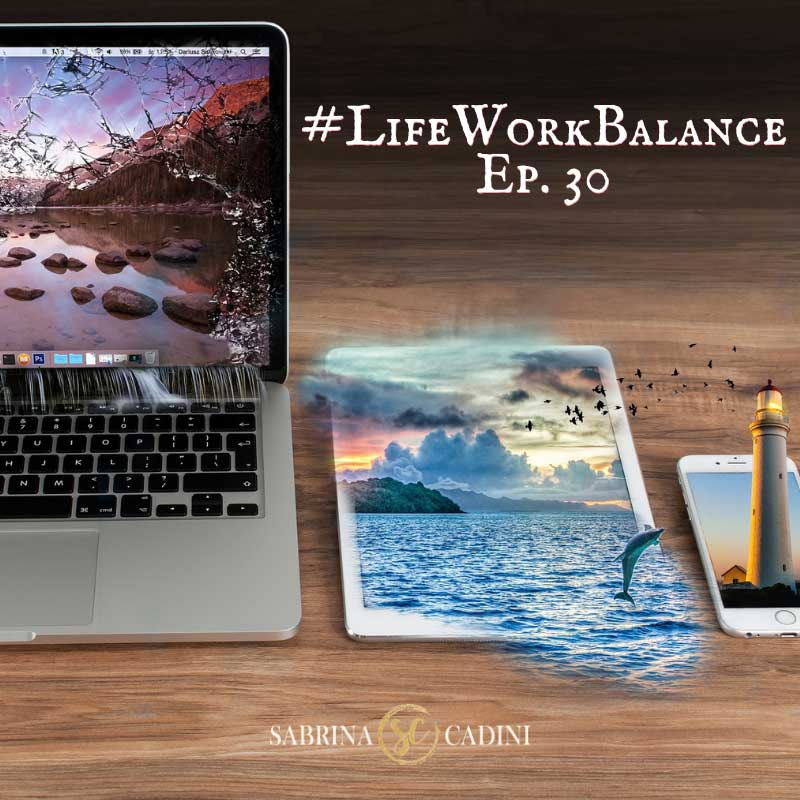 sabrina cadini life-work balance digital minimalism declutter social media stress life coaching brain wellness