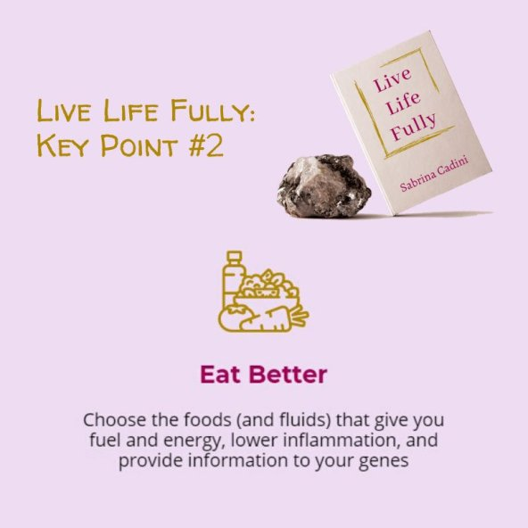 sabrina cadini live life fully life-work balance holistic life coah eat better book crowdfunding campaign