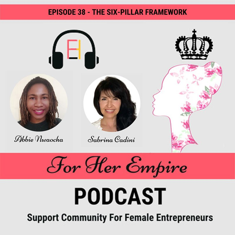 sabrina cadini podcast guest for her empire life-work balance 6-pillar framework holistic life coach