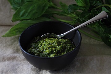 Vegan Basil Mint Pesto